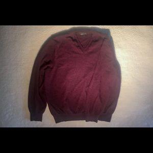men's v-neck wool mix Italian made sweater